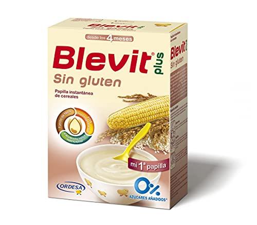 Blevit Plus Sin Gluten - Papilla de Cereales para Bebé con Harina de Arroz y Harina de Maíz - Sin Azúcares Añadidos...