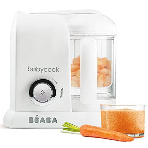 BÉABA Babycook Solo, Robot de cocina infantil 4 en 1, Tritura, cocina y cuece al vapor, Cocción rápida, Comida casera...