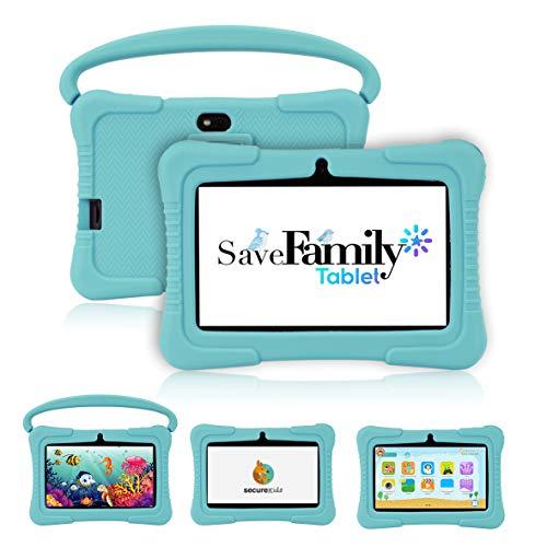 Tablet SaveFamily para niños pedagógica con navegador Infantil, Doble Control Parental, Evita Contenido inapropiado,...