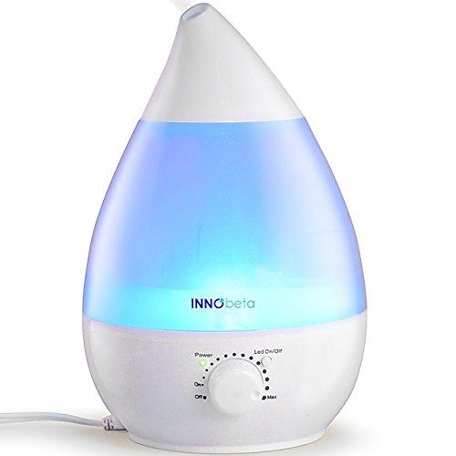 InnoBeta Waterdrop Humidificador Ultrasónico 2,4 Liter Bebé de Vapor Frío, Silencioso, Niveles Ajustables, Luz...