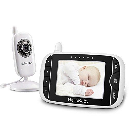 HelloBaby HB32 Monitor Inalámbrico de Vídeo con Cámara Digital, Vigilancia de la Temperatura de Visión Nocturnay 2...