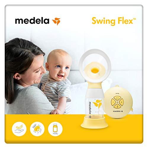 Medela Swing Flex sacaleches eléctrico simple, extractor de leche con embudo Flex (talla S y M incluidas) que se adapta...