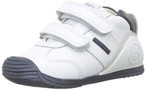 Biomecanics 151157, Zapatos de primeros pasos Unisex Bebés, Blanco (Blanco/Azul/Sauvage), 23 EU