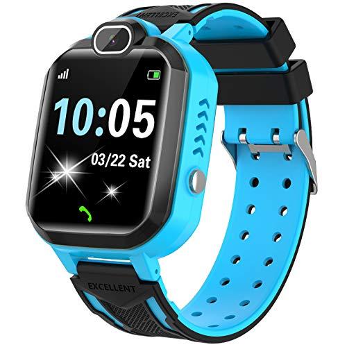 Smartwatch Niños - Juego De Musica Conversación Bidireccional Por Voz Reloj Inteligente Smart Watch SOS Cámara...