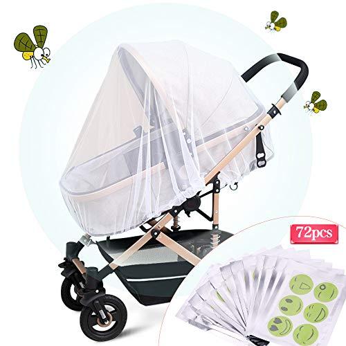 Fabur Universal Mosquitera Carrito Bebé,Mosquitera Bebé silla de paseo y cuna de viaje resistente, Protección...