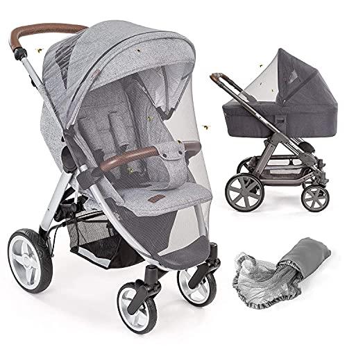 Mosquitera / Red antiinsectos universal capazo y silla de paseo | Protección contra picaduras, goma elástica,...