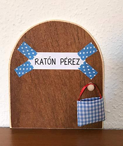 Ratoncito Pérez. La auténtica puerta mágica. Con una preciosa bolsita de tela azul para dejar el diente. El Ratoncito...