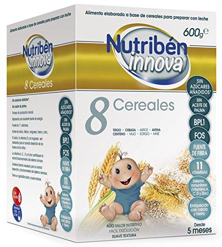 Nutribén Papillas Innova 8 Cereales, Sin aceite de Palma ni azucares añadidos- Alimento Para bebés- Desde Los 5...
