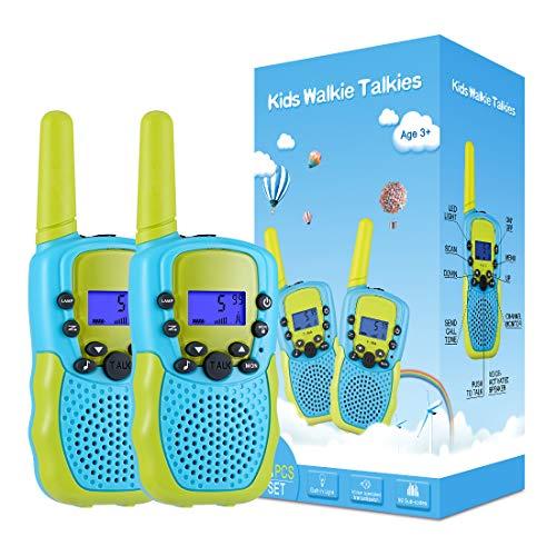 Kearui Juguetes para Niños de 3-8 Años,Walkie Talkie para Niños 8 Canales LCD Pantalla VOX Larga Distancia...