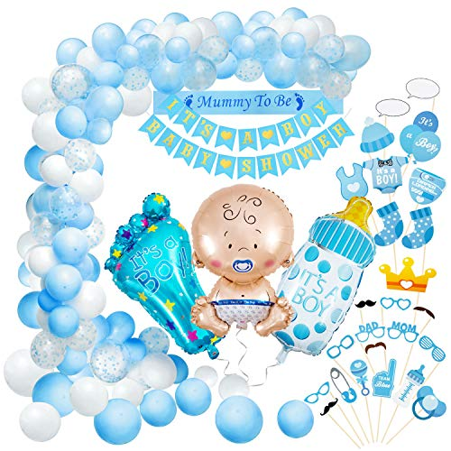 Baby Shower Decoración, Comius Sharp 56 Piezas Baby Shower Globos Baby Shower Accessorios para Niño Cumpleaños Baby...