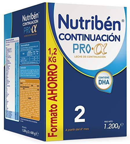 Nutribén Continuación ProAlfa 2 Leche en polvo de Continuación para bebés- de 6 a 12 meses- Formato ahorro 1 unidad...