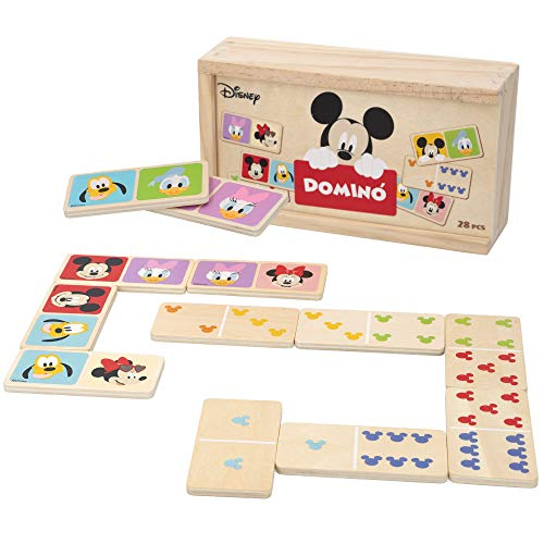 Disney - Domino madera infantil Juego de mesa para niños 2 3 4 años - Juegos de memoria Juegos Juguetes educativos...
