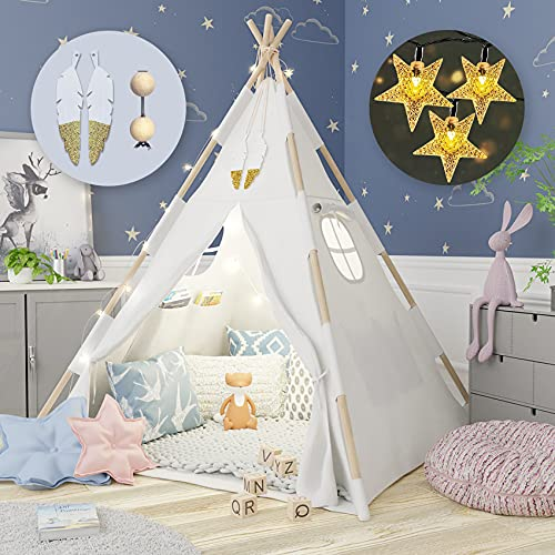 Tipi Infantil - Tienda campaña infantil - tipi infantil grande - tienda tipi infantil con colchoneta - Tipi indio para...