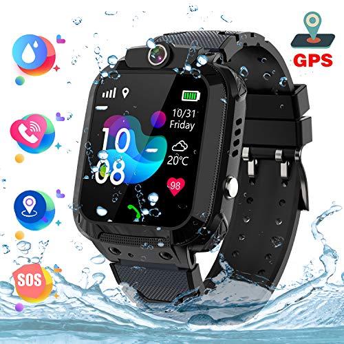 GPS Reloj Smartwatch para niños, impermeable GPS Rastreador Reloj anti-perdida de teléfonos inteligentes SOS, llamada...
