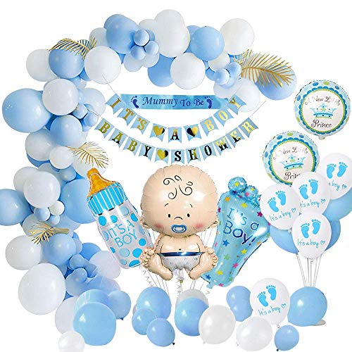 MMTX Baby Shower Decoraciones niños, globos de fiesta para baby shower Chico la momia ser faja, pancartas para baby...