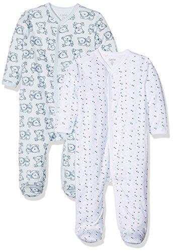 Care 4136 Pijama Mono, Blau (Light Blue 700), 2-3 Meses, Pack de 2