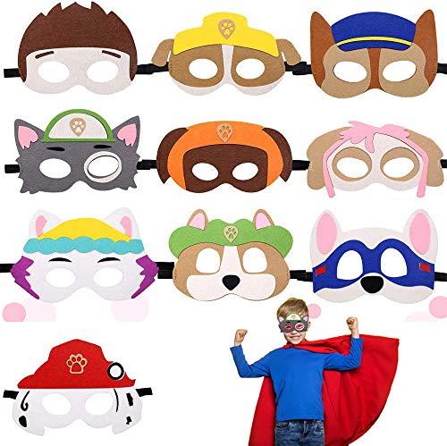 Paw Dog Patrol Toys,Máscaras de Fieltro,Dog patrol,Cuerda Elástica Máscaras,Máscara de perro,Mascarilla...