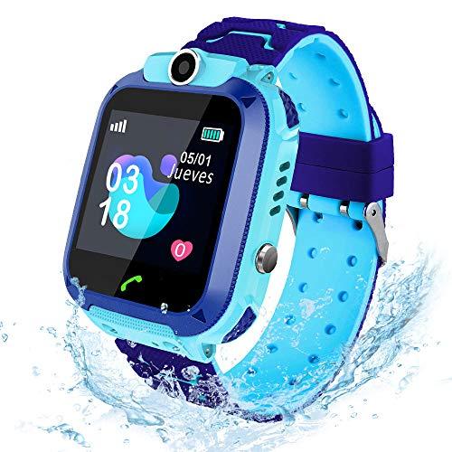AIMIUVEI Smartwatch Niños, Reloj Inteligente Niño IP67, LBS, Llamada Bidireccional, SOS Modo de Clase, Cámara,...