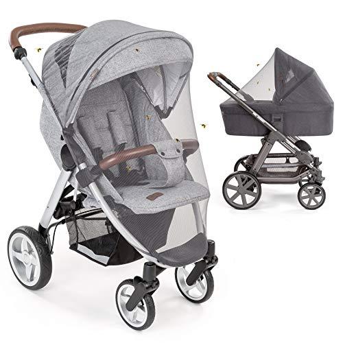 Mosquitera / Red antiinsectos universal para capazo, silla de paseo y cuna de viaje - Protección ideal contra...