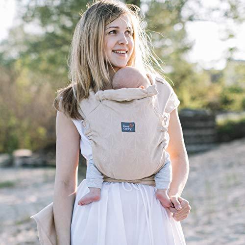 Love & Carry® Love Tie/Mei Tai - Riñonera ergonómica para bebé con banda (Sahara)