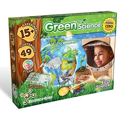 Science4you-Green Science – Juguete, Ecologico con 15 Experimentos y un Libro Educativo, Regalo Original para Niños...