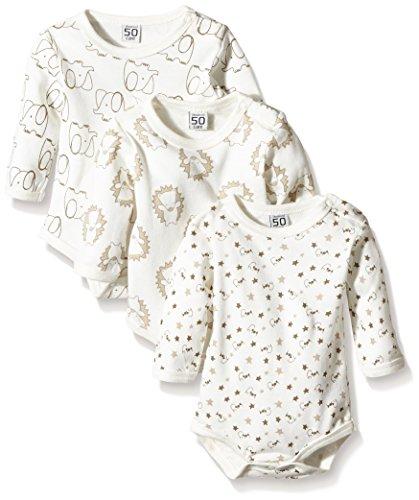 Care Body Bebé-Niños pack de 3 Marfil (Offwhite 200) 0 - 3 meses (Talla del fabricante: 56)