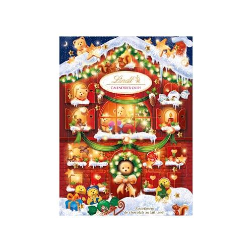 Calendario de Adviento Navidad 2021 Chocolates y Bombones Lindt. Sorpresas de Chocolates con Leche variados Lindor....