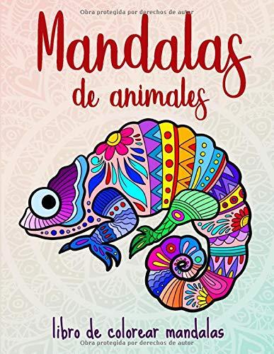 Mandalas de animales: 50 mandalas de animales para niños a partir de 10 años, creatividad, relajación y...