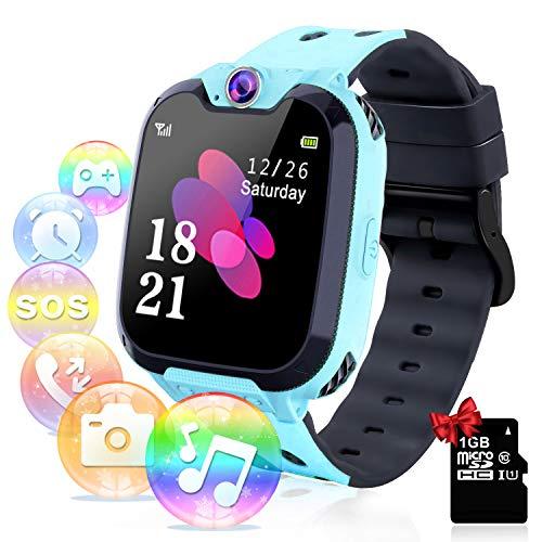 Relojes para Niños - Música Smartwatch para Niños Niña Game Watch (Tarjeta SD de 1GB incluida Pantalla táctil...