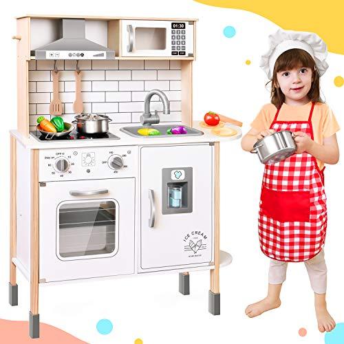 Tiny Land CocinaJuguete para niños con 18 Accesorios de Comida y Utensilios de Cocina de Juguete Juego de Juego de...