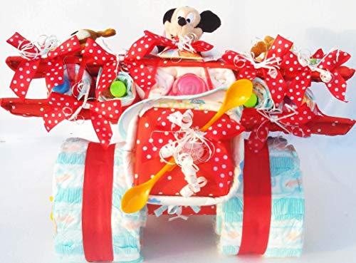Tarta de pañales con diseño de Disney