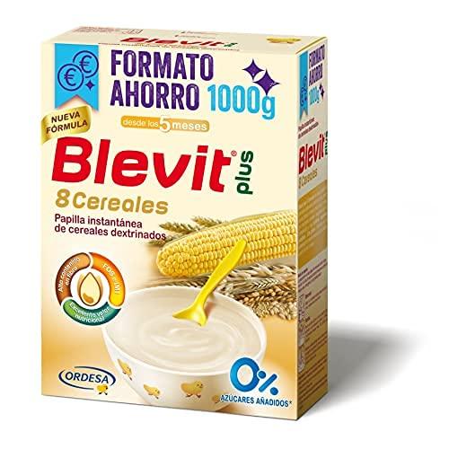 Blevit Plus 8 Cereales Formato Ahorro - Papilla de Cereales para Bebé con Harina de Avena y Harina de Trigo - Sin...