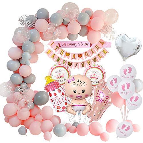 MMTX Baby Shower Decoracion niña, globos de fiesta para baby shower para niños momia para ser faja, pancartas para...