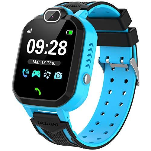 Reloj Inteligente Niño, Teléfono con Juego Cámara Música Despertador Modo Escuela Llamadas SOS Smart Watch Reloj...