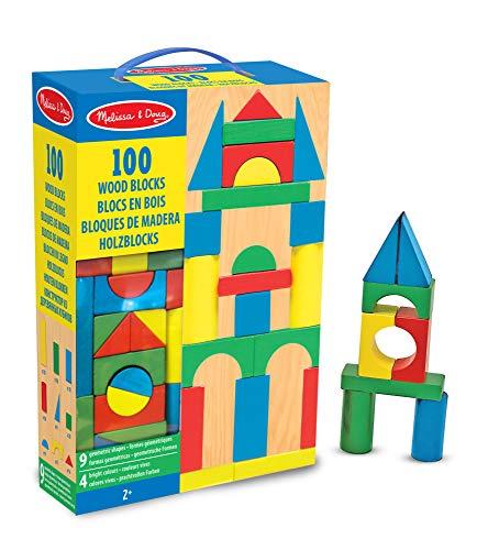Melissa & Doug- Bloques de madera 100 piezas (10481)