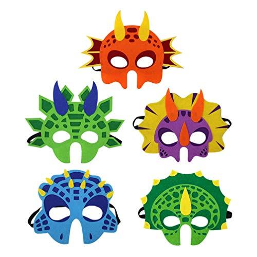 PRETYZOOM Mascarilla facial para niños, disfraz para adultos, 5 unidades