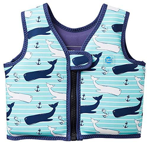 Splash About, Go Splash, Chaleco de natación para niños, Azul (Vintage Moby), 1 - 2 años