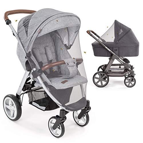 Mosquitera/Red antiinsectos universal para capazo, silla de paseo y cuna de viaje - Protección ideal contra picaduras,...