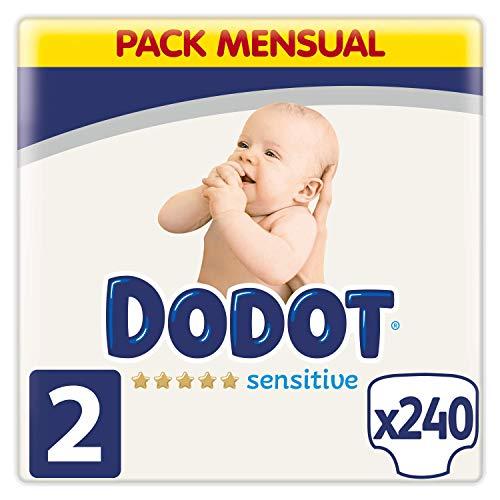 Dodot Sensitive Pañales Talla 2, 4-8 kg, 240 Pañales