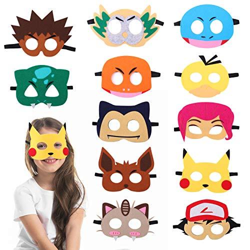 Herefun Máscaras de máscaras niños de Cosplay Suministros de Fiesta de para Halloween Navidad Accesorio de Fiesta...