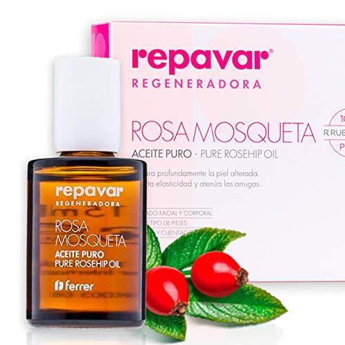 Repavar Regeneradora - Aceite 100% Puro Rosa Mosqueta R. rubiginosa, Alta Capacidad Regeneradora, Repara Profundamente...