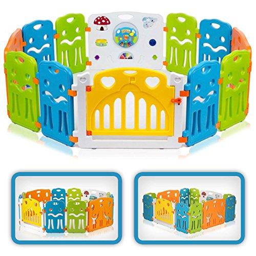 Baby Vivo Parques para Niños de Plástico de Puertas Parque Corralito Barrera de Seguridad - Colors