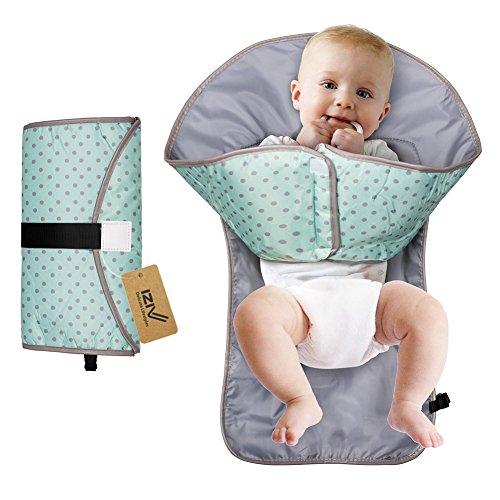 iZiv Cambiador Portátil de Pañales para Bebé - Kit Cambiador de Viaje - Bolso Cambiador Bebé de Mano Plegable de...
