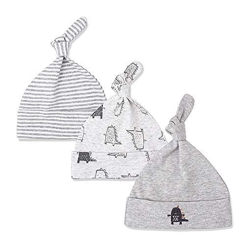 LACOFIA Sombrero de Beanie de algodón para bebé niñas y niños de recién Nacido Unisex Gorro Nudo de Las bebé de...