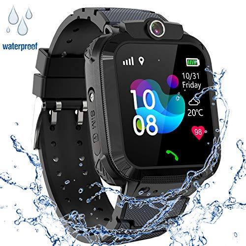 GPS Niños Impermeable Smartwatch, Reloj Inteligente Smart Watch Telefono con GPS Rastreador Conversación Bidireccional...