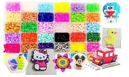 vytung Lote de 10000 Abalorios,36 Color(6 Brillar en Oscuridad) de los Granos DIY de Perler Caja de fusibles Conjunto de...