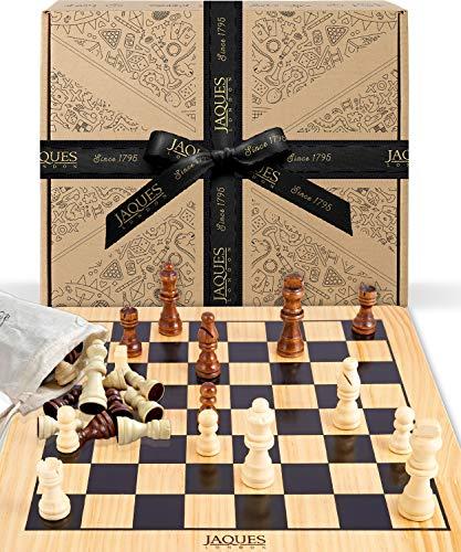 Jaques of London Juego de ajedrez Completo con Piezas - Tablero de ajedrez de Calidad y Piezas de ajedrez Jaques...