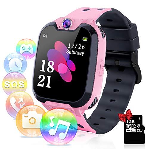 YENISEY Relojes para Niños - Música Smartwatch para Niños Niña Game Watch (Tarjeta SD de 1GB incluida Pantalla...