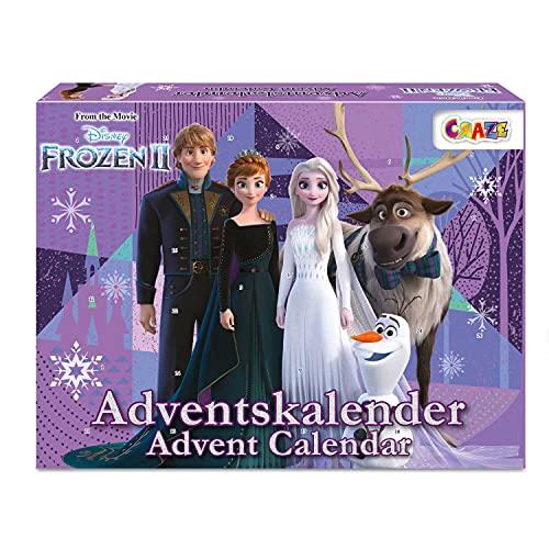 CRAZE Calendario Adviento FROZEN 2020, Elsa y Anna para niños calendario de juguetes con contenido creativo y grandes...