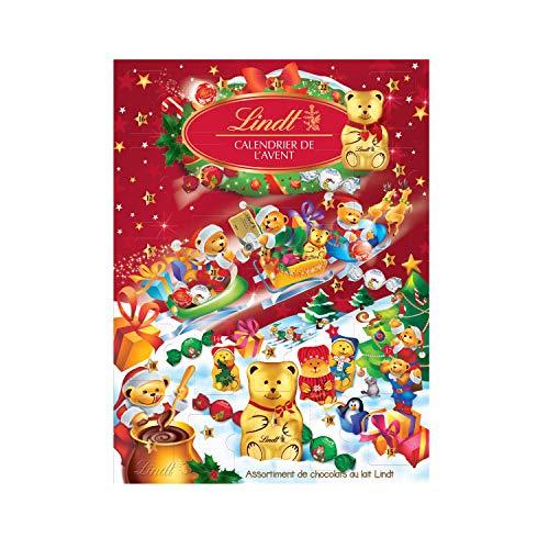 Calendario de Adviento Navidad 2020 Chocolates Lindt. Sorpresas de Bombones de Chocolate con Leche y de Chocolate con...